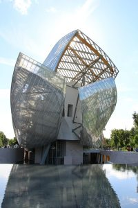 architecture, art museum in Paris, unusual architecture, glass architecture