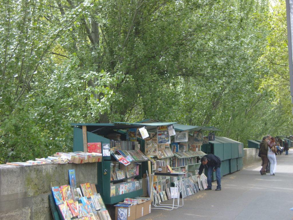 Paris, Seine, booksellers in Paris