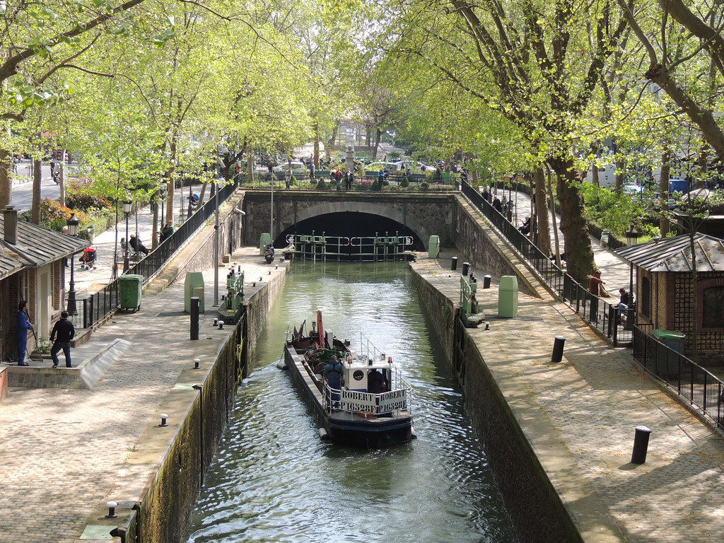 St. Martin Canal, 10th district Paris, canals in Paris