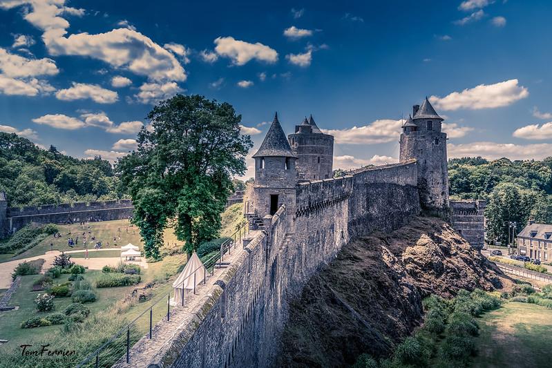 Fougères, Brittany, castles