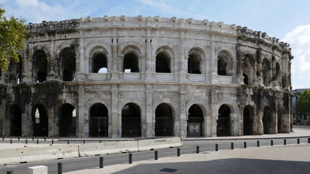 Nimes, France, ancient architecture in France, Gallo-Roman architecture in France, amphitheaters, Roman arenas in Europe